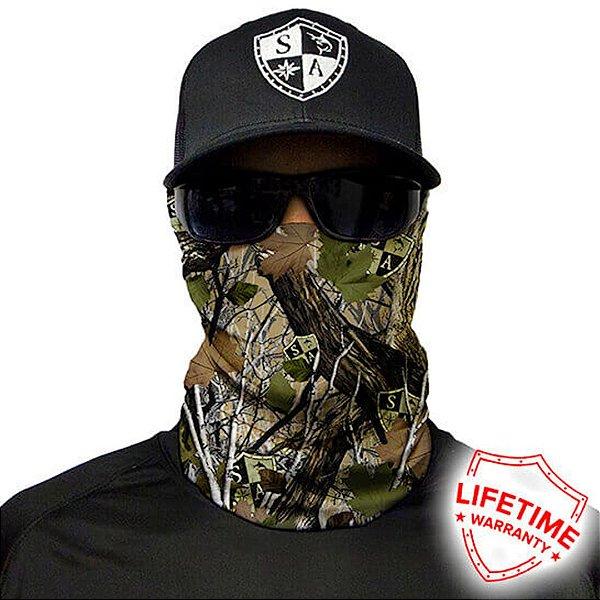 Bandana Balaclava Face Shield Forest Camo Dregs Pesca Caça Militar Exército Camuflagem