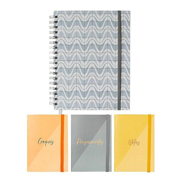 Dupla Criativa Lume (1 Notebook + 1 Trio de Cadernetas Flexíveis)