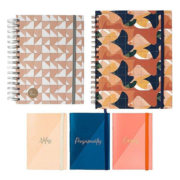 Kit Super Criativo Clássico Lume (1 ArqPlanner + 1 Notebook + 1 Trio de Cadernetas)