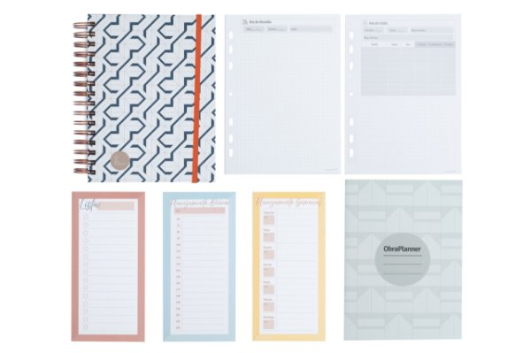 Kit Super Organizado Clássico (1 ArqPlanner Clássico + 1 Kit 5 ObraPlanners + 1 Kit Atas + 1 Kit Planejamento)