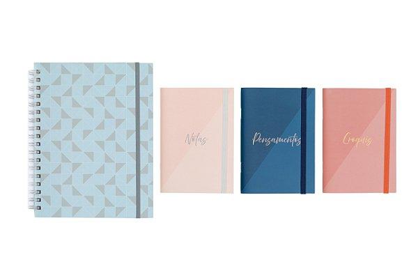 Dupla Criativa (1 Notebook + 1 Trio de Cadernetas Flexíveis)