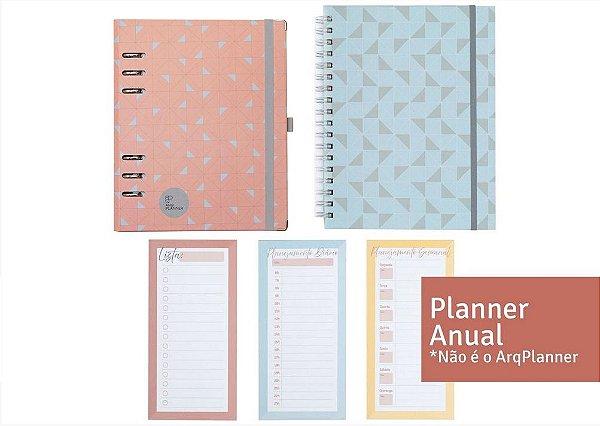 Kit Super Organizado Profissionais com Planner Anual (1 Planner Anual + 1 Notebook + 1 Kit Planejamento)