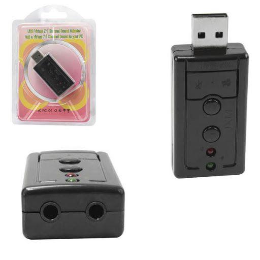 ADAPTADOR PLACA DE SOM USB 7.1 GENERICA BOX