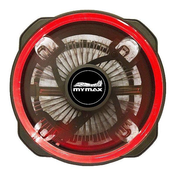 COOLER PARA PROCESSADOR UNIVERSAL MYC/CCHX12-RD 120MM LED VERMELHO MYMAX BOX