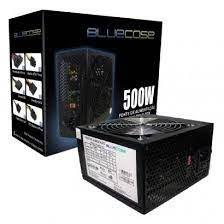 FONTE ATX 500W REAL 20/24 PINOS BLU500-E 3* SATA 2* IDE S/CABO BLUECASE BOX
