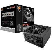 FONTE ATX 600W REAL 20/24 PINOS CGR BC-600 6* SATA 2* IDE PFC ATIVO 80 PLUS WHITE COUGAR BOX