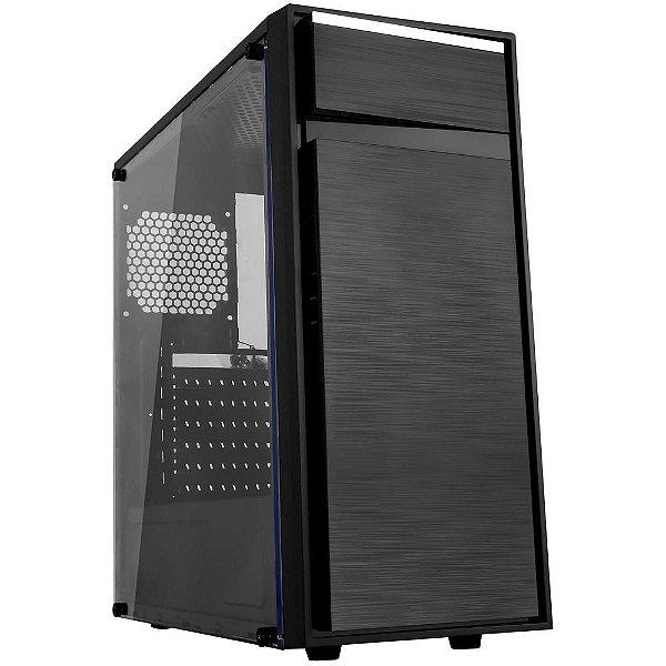 GABINETE 1 BAIA GAMER BG-015 BG015GCASE S/FONTE C/ ACRILICO BLUECASE BOX