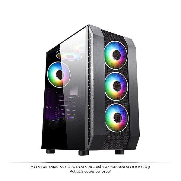 GABINETE GAMER MID-TOWER CG05 S/FONTE LATERAL EM ACRILICO PIXXO BOX