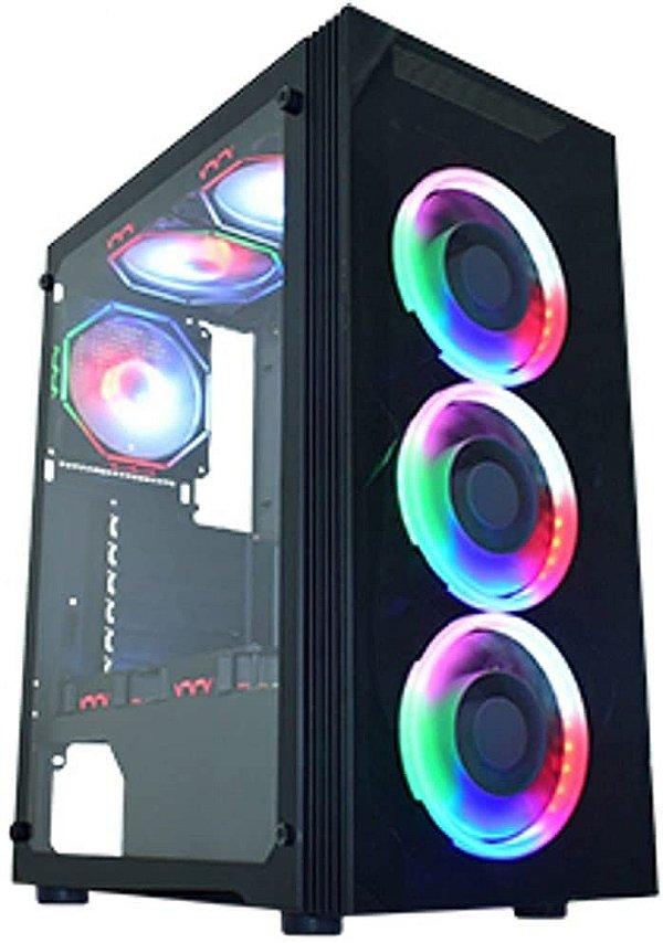 GABINETE MID-TOWER GAMER ASGARD 3 M.03Z5 RGB K-MEX BOX