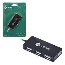 HUB USB 2.0 4 PORTAS HUV-20 PRETO VINIK BOX