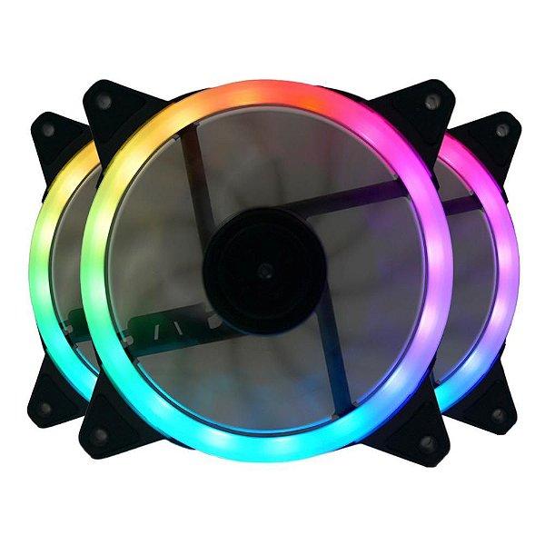 KIT FAN COOLER 3 RGB GC-F011 120MM C/ CONTROLE REDRAGON BOX