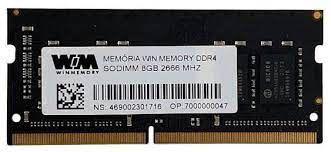 MEMORIA 8GB DDR4 2666 MHZ NOTEBOOK WAS84S8AZ WIN MEMORY BOX