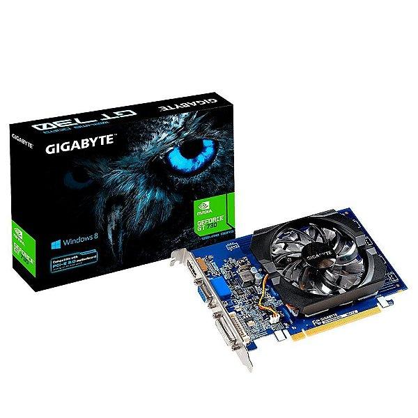 PLACA DE VIDEO 2GB PCIEXP GT 730 GV-N730D5-2GI 64BITS GDDR5 GIGABYTE BOX