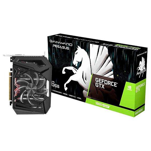 PLACA DE VIDEO 6GB GTX 1660 SUPER PEGASUS NE6166S018J9-161F GDDR6 GEFORCE DP HDMI DVI-D GAINWARD BOX