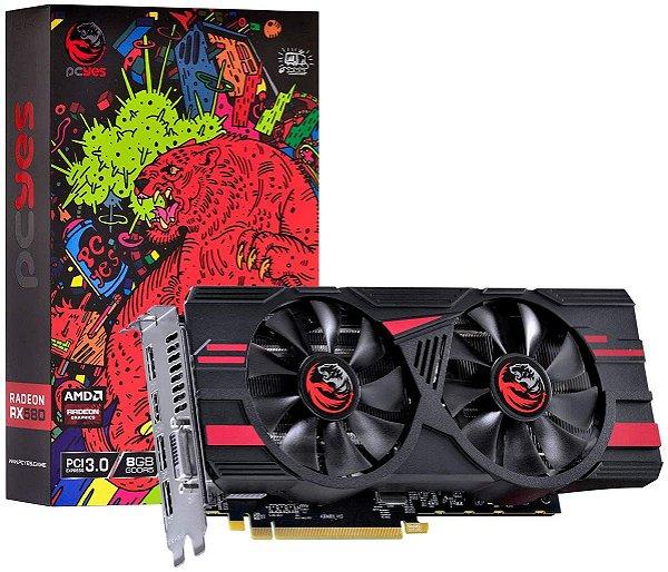 PLACA DE VIDEO 8 GB PCIEXP RX 580 PJ580RX25608G5DF 256BITS GDDR5 RADEON PCYES BOX