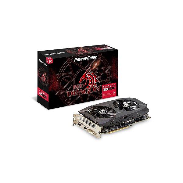 PLACA DE VIDEO 8GB PCIEXP RX 580 8GBD5-DHDV2/OC 256BITS GDDR5 RADEON DP HDMI DVI-D POWER COLOR BOX