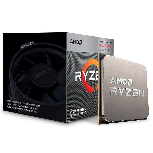 PROCESSADOR AM4 RYZEN 5 3400G 3.70GHZ 6 MB CACHE AMD BOX