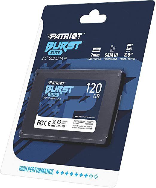 SSD 120GB SATA III BURST PBE120GS25SSDR PATRIOT BOX