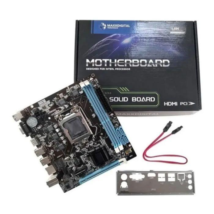 KIT 10 PLACAS MAE 1155 MICRO ATX TG-H61-S DDR3 VGA/HDMI MAXXDIGITAL BOX