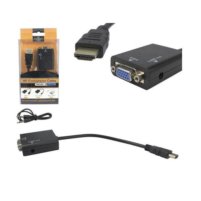 CABO CONVERSOR 24 CM VGA P/ HDMI GENERICO BOX