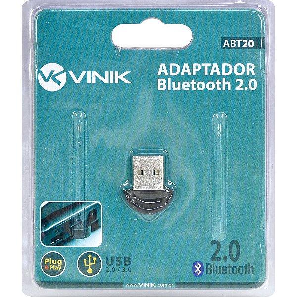 ADAPTADOR BLUETOOTH ABT20 USB VINIK BOX