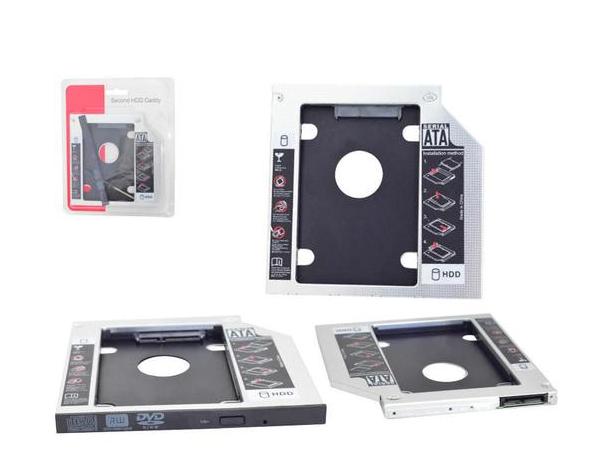 ADAPTADOR CADDY P/ HD OU SSD 9,5MM GENERICA BOX