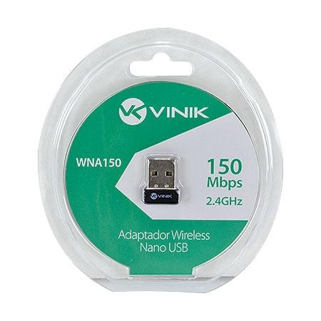 ADAPTADOR USB WIRELESS NANO 150MBPS WNA150 VINIK BOX