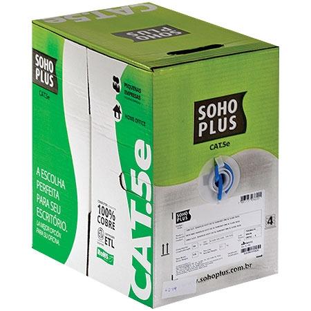 CAIXA DE CABO DE REDE 305 METROS CAT5E AZUL SOHO PLUS BOX