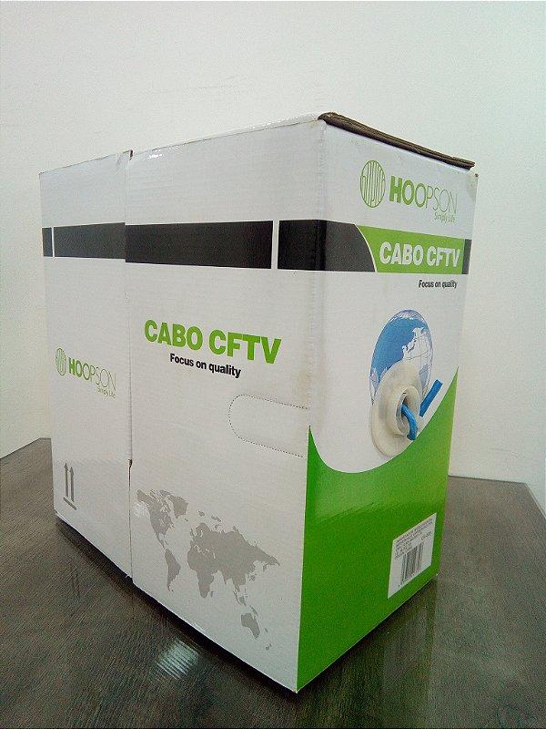 CAIXA DE CABO DE REDE 305 METROS CF-005 CAT5 AZUL HOOPSON BOX