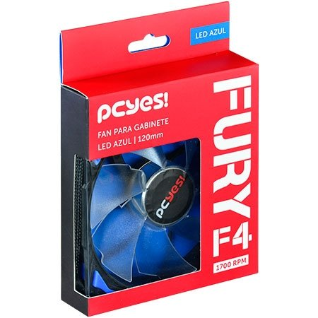 COOLER GAB 120MM F4120LDAZ FURY F4 AZUL PCYES BOX
