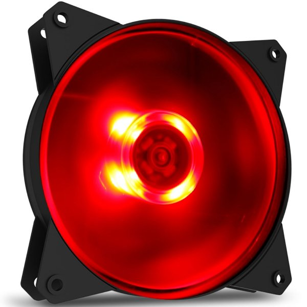COOLER GAB 120MM R4-C1DS-12FR-R1 MASTERFAN MF120L LED VERMELHO COOLER MASTER BOX