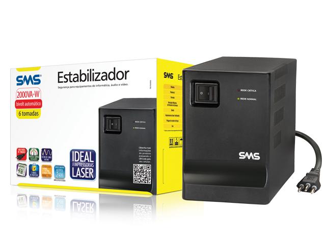 ESTABILIZADOR BIVOL 2000VA 16218 PROGRESSIVE III SMS BOX