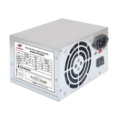 FONTE ATX 200W 20/24 PINOS PS-200V3 2-SATA 2 IDE C3TECH BOX