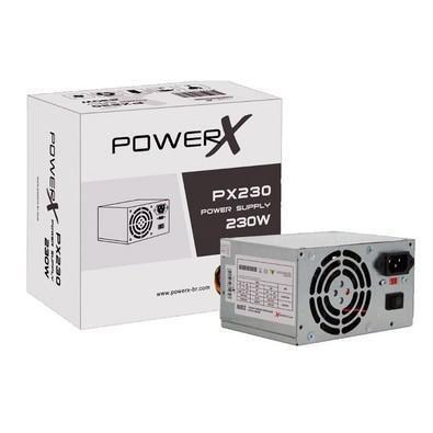 FONTE ATX 230W 20/24 PINOS PX230 2-SATA 2 IDE C/ CABO POWERX BOX