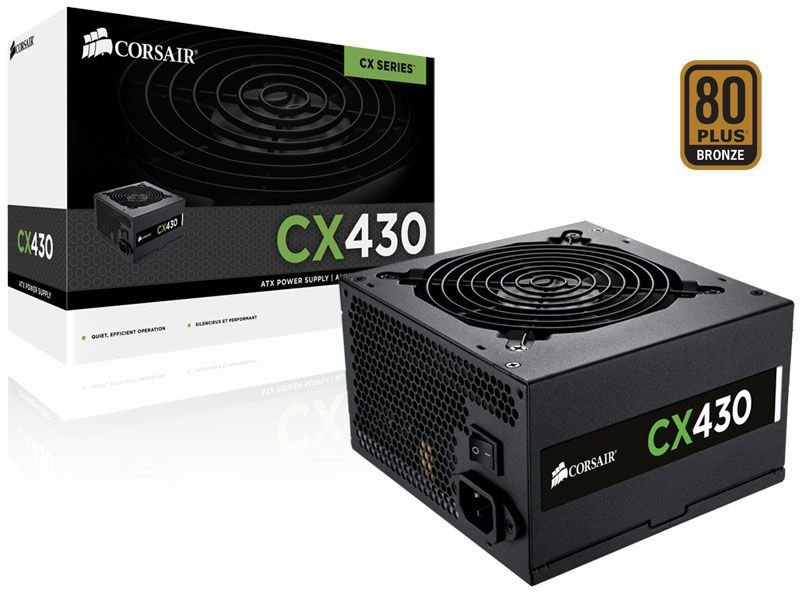 FONTE ATX 430W CP-9020046-WW CX430 80 PLUS BRONZE CORSAIR BOX