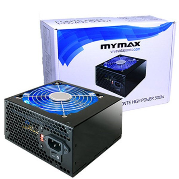 FONTE ATX 500W 20/24 PINOS HIGH POWER MPSU/FP500 MYMAX BOX
