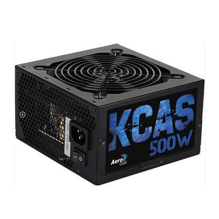 FONTE ATX 500W REAL 20/24 PINOS KCAS-500W 80 PLUS BRONZE AEROCOOL BOX