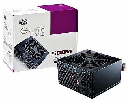 FONTE ATX 500W REAL 20/24 PINOS RS500-PCARN1-BR ELITE POWER V2 COOLER MASTER BOX
