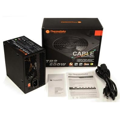 FONTE ATX 600W REAL 20/24 PINOS TR2 TR-600-CBZ THERMALTAKE BOX