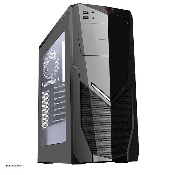 GABINETE 1 BAIA 7025BB GAMER S/ FONTE USB 3.0 FRONTAL COM ACRILICO BRAZIL PC BOX