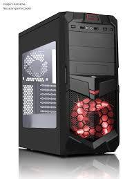 GABINETE 2 BAIAS 7005BR GAMER S/ FONTE USB 3.0 FRONTAL COM ACRILICO BRAZIL PC BOX