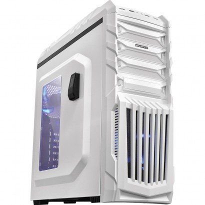 GABINETE MID-TOWER TIGERBCOAZ2FCA NEW TIGER C/LED SUPORTE PARA HEADPHONE BRANCO PCYES BOX
