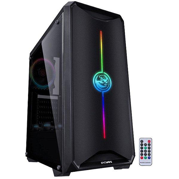 GABINETE S/ BAIA EXTERNA NOVPTRGB3FCA-PT NOVA S/ FONTE RGB PCYES BOX