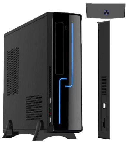 GABINETE SLIM H308 C/FONTE 200W BLACK BRAZIL PC BOX