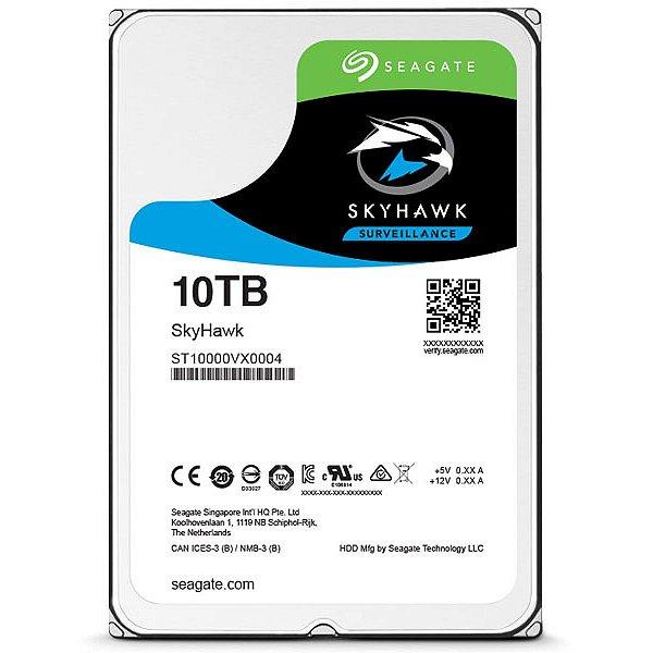 HD 10TB SATA 6.0 GB/S ST10000VX0004 7200RPM SURVEILLANCE SKYHAWK SEAGATE BOX
