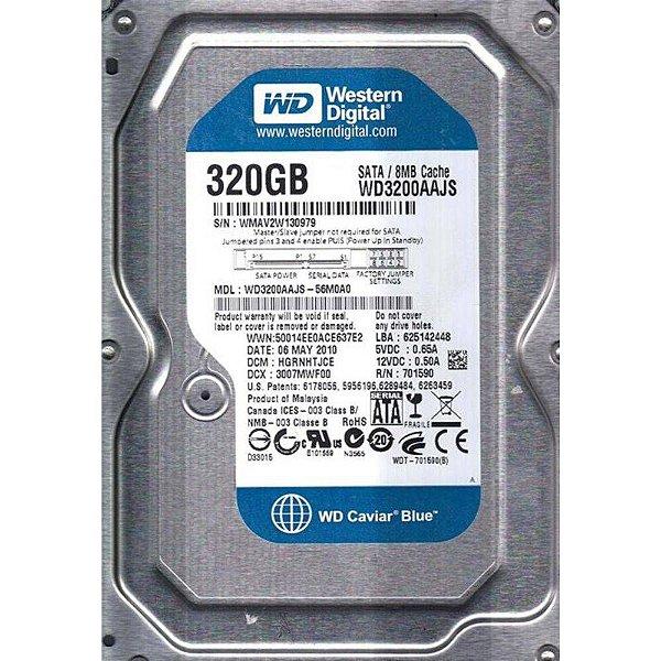 HD 320GB SATA2 3.0GBPS WD3200AAJS-56M0 7200RPM WESTERN DIGITAL OEM