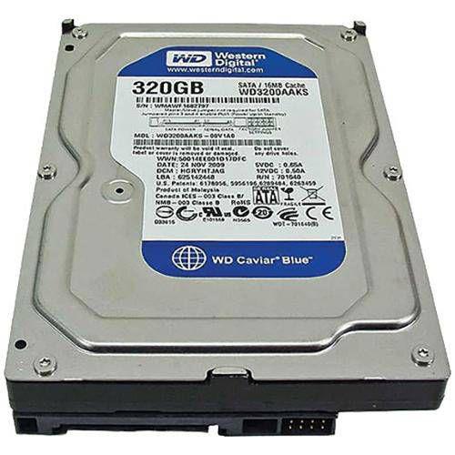HD 320GB SATA2 WD3200AAKS 7200RPM WESTERN DIGITAL BOX