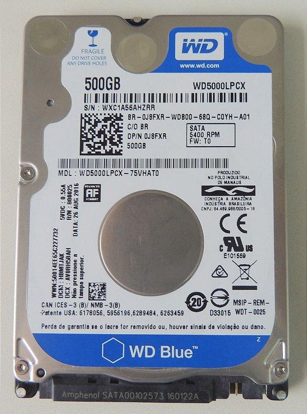 HD 500GB SATA 3 6GB/S WD500LPCX 5400RPM NOTEBOOK/ULTRABOOK WESTERN DIGITAL OEM