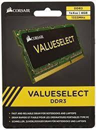 MEMORIA 4GB DDR3 1333 MHZ CMS04GX3M1A1333C9 NOTEBOOK CORSAIR BOX