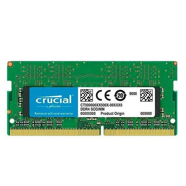 MEMORIA 8GB DDR4 2400 MHZ NOTEBOOK CT8G4SFS824A CRUCIAL BOX